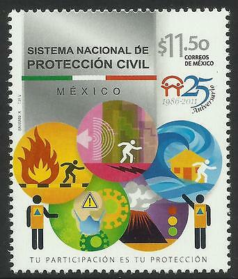 MEXICO 2011 FIRE CIVIL  PROTECTION 1v MNH