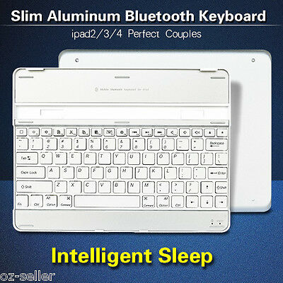 iPad 4 Keyboard Case Aluminum iPad Cover Dock For iPad 2 3 4 Bluetooth Wireless