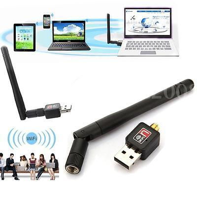 Mini 150Mbps USB Cle WiFi Adaptateur Sans Fil LAN Dongle 802.11 n/g/b + Antenne