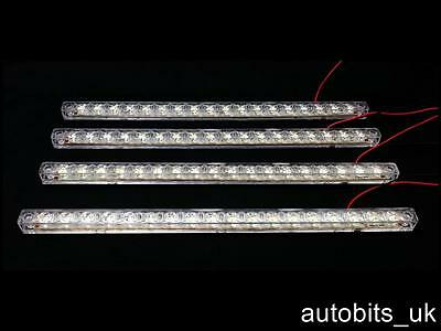 4 X 18 SMD LED FRONT MARKER LIGHT LAMP 330mm WHITE 24V DAF MAN SCANIA VOLVO