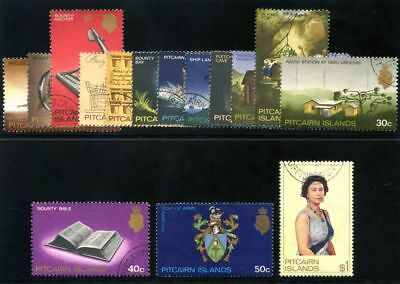 Pitcairn Islands 1969-75 QEII Definitives set complete VF used. SG 94-106b.