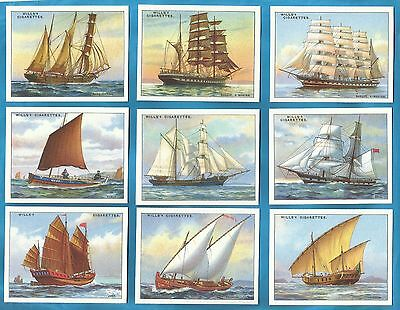 Wills Cigarette Cards - RIGS OF SHIPS - Full mint condition set