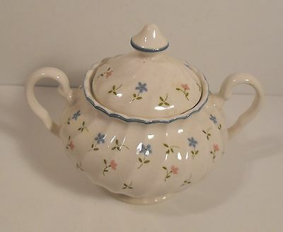 Johnson Bros. Brothers Melody Covered Footed Sugar Bowl with Lid Made in England