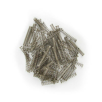 Pack of 50pcs Guitar Pickup Round Springs Chrome Nickel Color