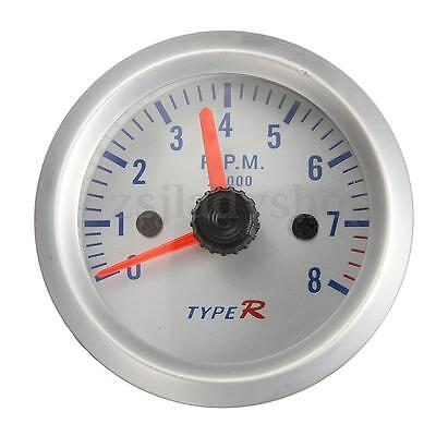 2'' 52mm Car Motor Counter Tacho Tachometer Pointer Gauge Meter 0-8000 RPM 12v