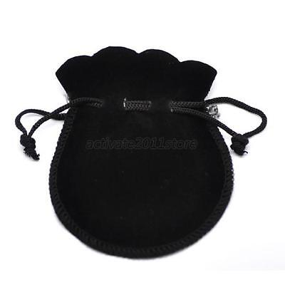 10 x Velvet Flocking Drawstring Pouch Coin Jewelry Wedding Gift Bags Small bag
