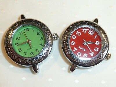 Pretty Ladies Watch Face - Quartz - Silver Plated - Choice Of 2 Dial Colours *