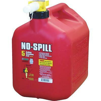 No-Spill CARB Compliant 5-Gallon Poly Gasoline Can with  Rear Handle