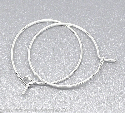Wholesale Lots Silver Plated Wine Glass Charm Rings /Earring Hoops 25x20mm