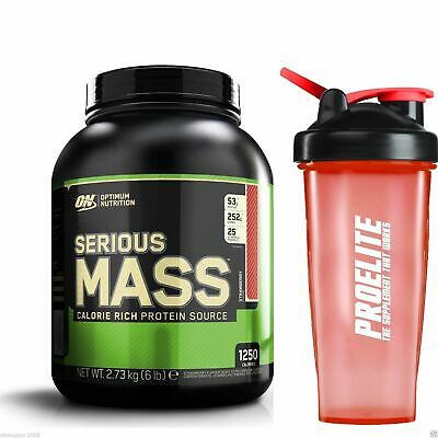 ON Optimum Nutrition Serious Mass 2.7KG Weight Gainer Protein + FREE Shaker V3