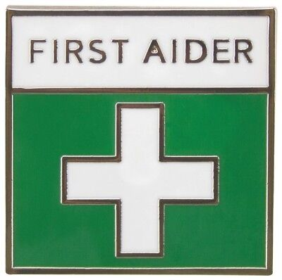 First Aid / Aider Badge Green Enamel / Metal