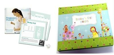 Pregnancy Planner & Baby Born 1st Year Album Book Record Infant New Born Mum Set