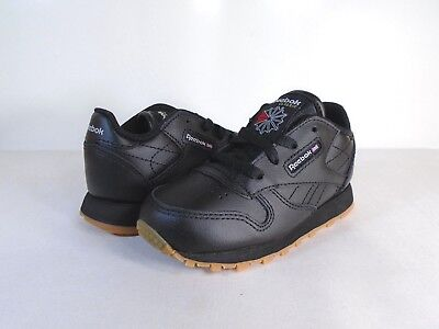 07488ac447727 REEBOK SIZE 6 Toddler Boys Black Gum Suede Classic Leather Bandana ...
