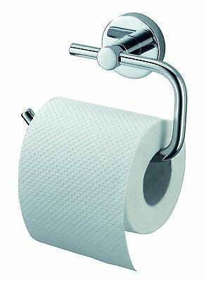 Kosmos Stainless Steel Chrome Toilet Roll Holder - Silver