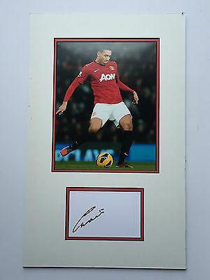 Chris Smalling Manchester United Hand Signed Photo Mount Display.