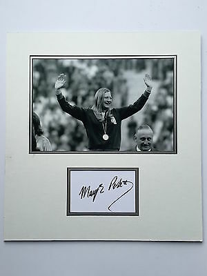 Mary Peters Hand Signed Photo Mount Display Olympics Gold Medal Winner.