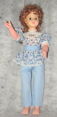 Vintage Eegee Doll #7 30 InchesTall  With Open and Close Eyes ~ Tall Doll