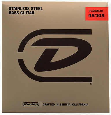 Dunlop Flatwound Stainless Steel Electric Bass Strings