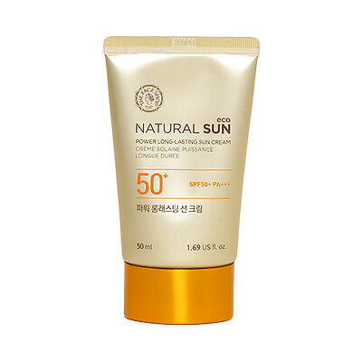 [THE FACE SHOP] Natural Sun Eco Power Long Lasting Sun Cream - 50ml (New)