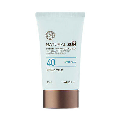 [THE FACE SHOP] Natural Sun Eco No Shine Hydrating Sun Cream - 50ml(SPF40 PA+++)
