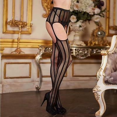 Womens Sheer Sexy Fashion Lace Top Thigh-Highs Stockings & Garter Belt Suspender