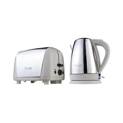 Prestige 53233 Stainless Steel Breakfast Set Cordless Kettle And Toaster Almond