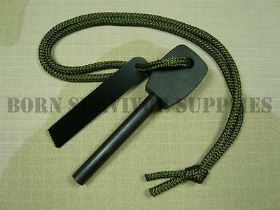 LARGE ARMY FIRESTEEL - Flint & Striker, Bushcraft, Survival, Swedish Fire Steel