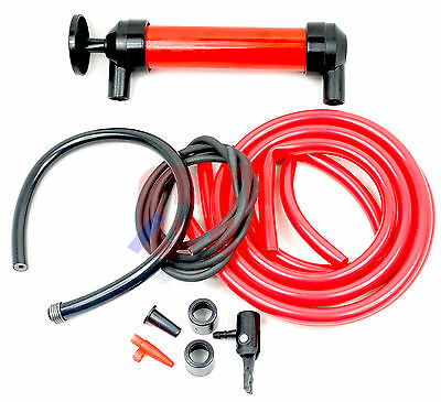 Multi Use Transfer Syphon Siphon Pump Hand Held Liquid Oil Fuel Air Inflation