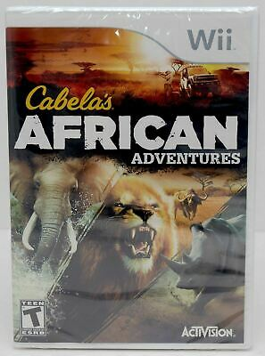 NEW SEALED Nintendo Wii/Wii-U Cabela's African Adventures Video Game cat hunting