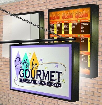 LED Illuminated LIGHTBOX (2) Double Sided Outdoor with SIGN GRAPHICS  2'x4' -9""