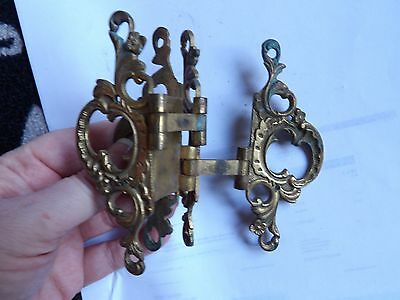 Large Antique, Ornate Solid Brass 2 Way Hinge For Screen? Dorr? Window? Saloon?