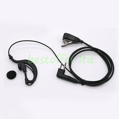 2 Pin G Shape SIA Security Covert Earpiece Headset For Motorola Radio PTT CP040
