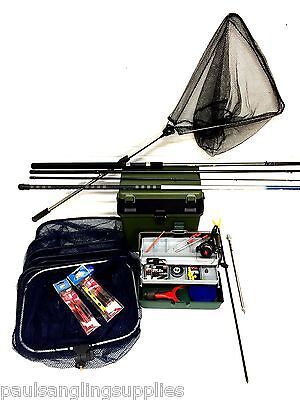 Starter Coarse Float Fishing Kit Set 12ft Rod, Reel, Box ,Tackle  Rigs + Pole