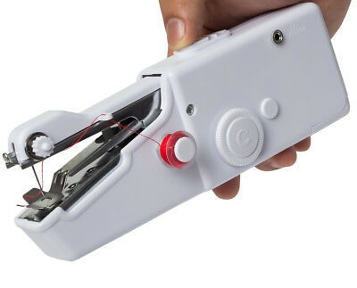 Hand Held Cordless Sewing Machine Quick Stitch Clothes Fabric Traveling Portable