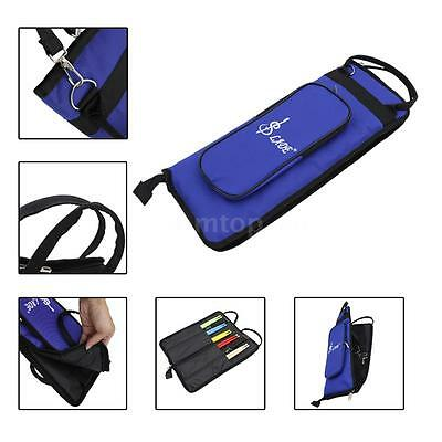 LADE Thicken Padded Drum Stick Bag Case WaterResistant Oxford Durable Blue Q1J7