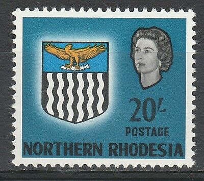 Northern Rhodesia 1963 Qeii Arms 20/- Mnh ** Top Value