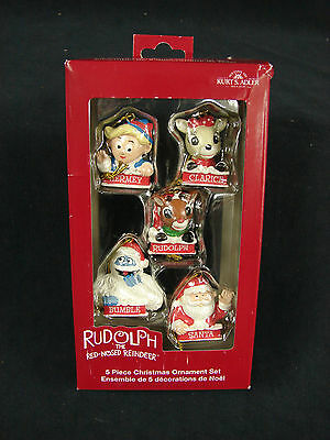 New Rudolph The Red Nosed Reindeer 5 Piece Christmas Ornament Set Kurt S Adler