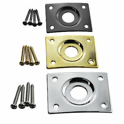 Square Guitar Jack Plate for Gibson Epiphone Telecaster with Screws