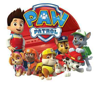 """Paw Patrol Iron On Transfer 5""""x5.75"""" for LIGHT Colored Fabric"""