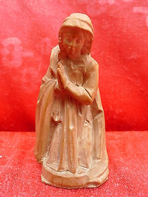 beautiful,antique nativity___wood carved __Mary__11,5cm__