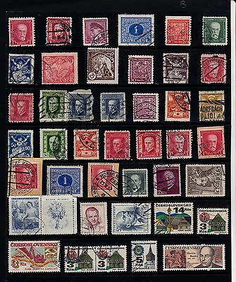 CZECHOSLOVAKIA Old Stamp Collection USED Ref:QB591