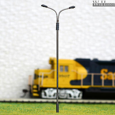 10 x OO / HO Scale Model Train Lamps Railroad Lamp posts Led Street Lights QD115