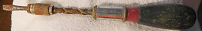 VINTAGE WOOD RATCHET SCREWDRIVER HOLLANDS AND BLAIR,77,tool,England,push drill