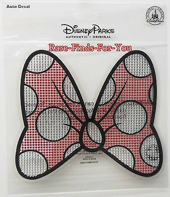 Disney Parks Minnie Mouse Big Red Bow Car Auto Window Sticker Decal Cling (NEW)