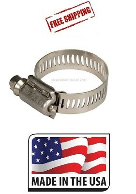"""Ideal Tridon 1/4"""" Fuel Line Mini Hose Clamp 100 Pack Sae # 4 Made In The Usa"""