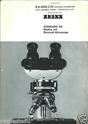 Equipment Brochure - Zeiss - Standard RA - Microscope - c1967 (E2808)