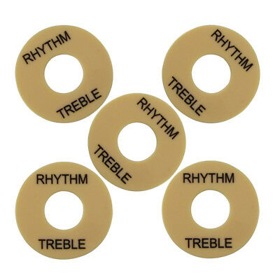 New Cream 5pcs LP Switch Toggle Treble Rhythm Selector Plate Cover