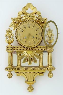 20Th Century Swedish Ornate Gilt Wall Clock By Westerstrand