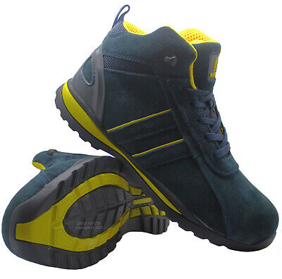 Mens Leather Ultra Lightweight Steel Toe Cap Safety Work Boots Trainers Shoes Sz