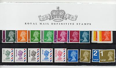 GB 1983 - 2016 Definitive and Regional, post and go Presentation Packs